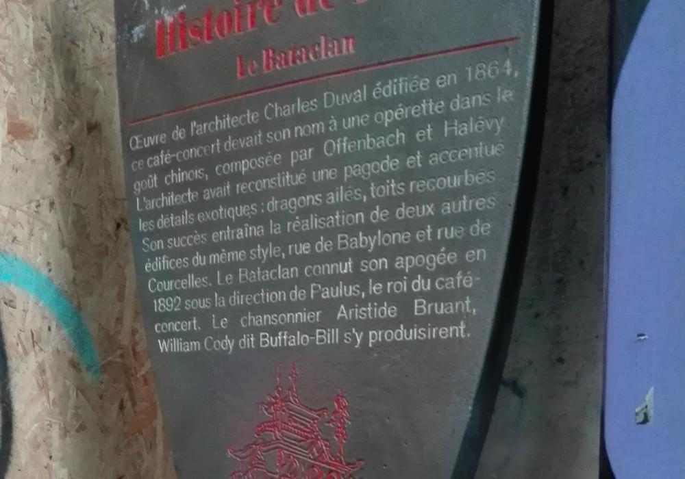 Le Bataclan Histoire de Paris